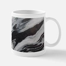 modern black white marble Mugs