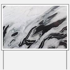 modern black white marble Yard Sign