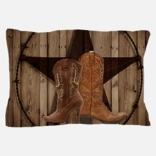 cowboy boots texas star Pillow Case