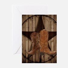 cowboy boots texas star Greeting Cards