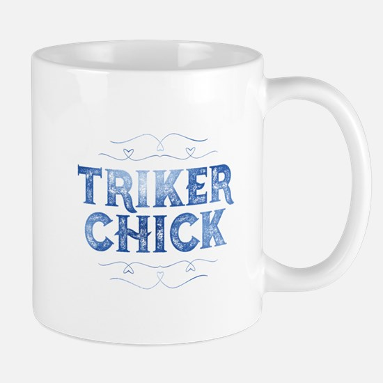 Triker Chick, Distressed Mugs