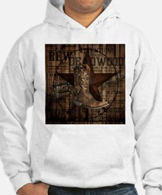 grunge cowboy boots western coun Hoodie