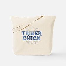 Triker Chick, Distressed Tote Bag