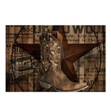 grunge cowboy boots weste Postcards (Package of 8)