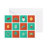 Tripawds Christmas Icon Greeting Cards (pk Of 10)