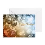 Hoppy Holidays Ornaments Greeting Cards (pk Of 10)