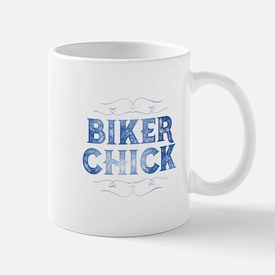 Biker Chick Distressed Mugs