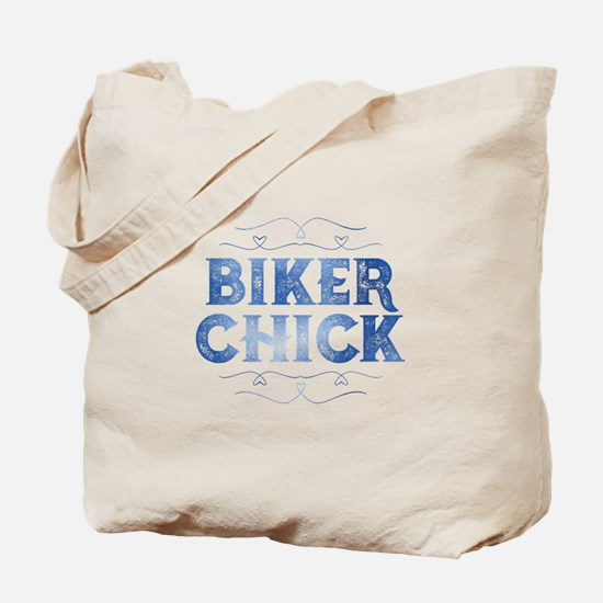 Biker Chick Distressed Tote Bag