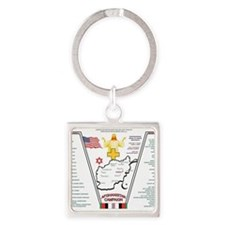 AFGHANISTAN WAR OPERATION ENDURING Square Keychain