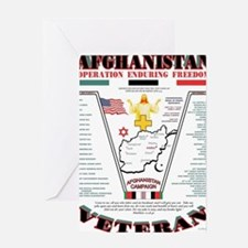 AFGHANISTAN WAR OPERATION ENDURING F Greeting Card