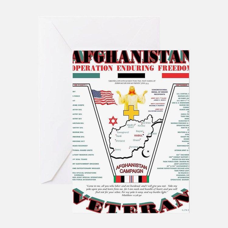 AFGHANISTAN WAR OPERATION ENDURING F Greeting Card