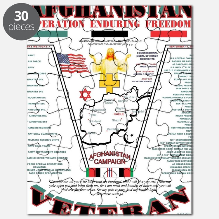 AFGHANISTAN WAR OPERATION ENDURING FREEDOM Puzzle