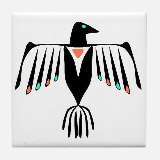 Native American Thunderbird Tile Coaster