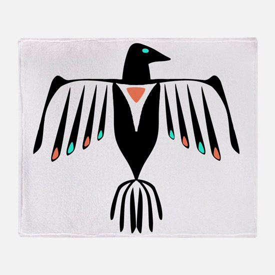 Native American Thunderbird Throw Blanket