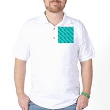 Cyan Bright Pattern Abstract T-Shirt