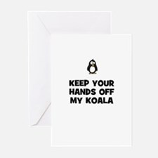 keep your hands off my koala Greeting Cards (Pk of