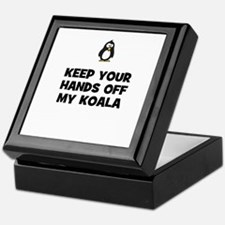 keep your hands off my koala Keepsake Box