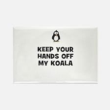 keep your hands off my koala Rectangle Magnet
