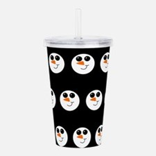 snow man smiley pattern Acrylic Double-wall Tumble