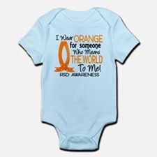 Cute I wear orange my dad father daddy fighting has Infant Bodysuit