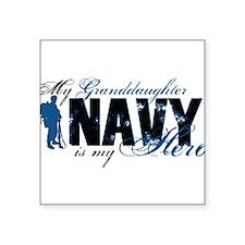 """Unique Military granddaughter Square Sticker 3"""" x 3"""""""