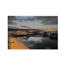 Port Angeles at Night Rectangle Magnet