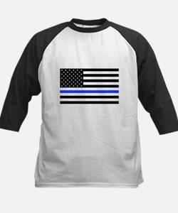 Flag Thin Blue Line Baseball Jersey