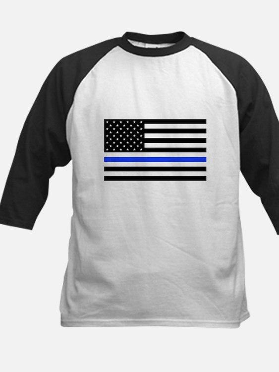 Flag Thin Blue Line Baseball Jersey