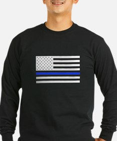Flag Thin Blue Line Long Sleeve T-Shirt