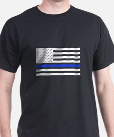 Flag Thin Blue Line T-Shirt