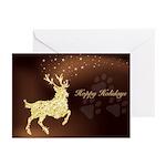 Hoppy Holidays Tri-Deer Greeting Cards (pk Of 10)