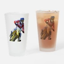 Motocross Driver Drinking Glass
