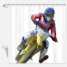 Motocross Driver Shower Curtain