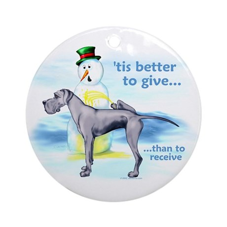 Great Dane BlueUC Giving Ornament (Round)