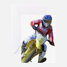 Motocross Driver Greeting Cards