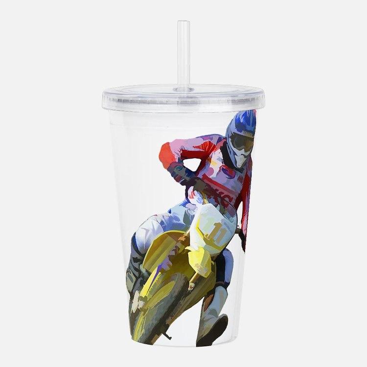 Motocross Driver Acrylic Double-wall Tumbler