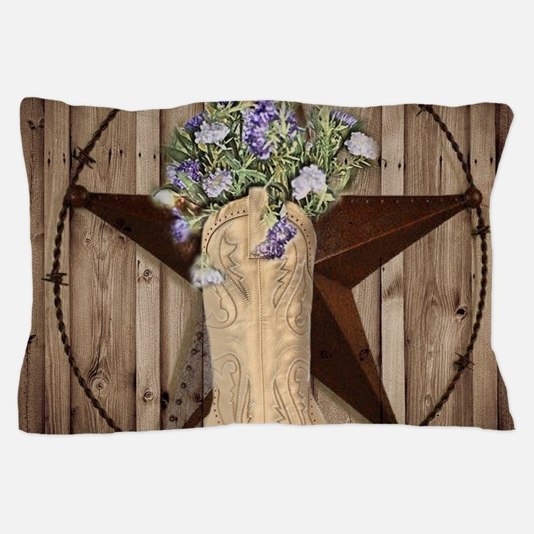rustic barn texas cowgirl boots Pillow Case