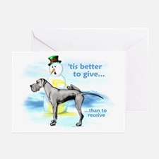 Great Dane BlackUC Giving Greeting Cards (Pk of 20