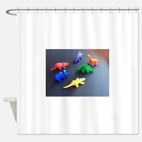 Dinosaur menagerie Ryan's Fave Shower Curtain
