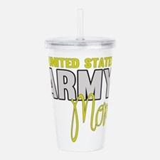 Army Mom Yellow Acrylic Double-wall Tumbler