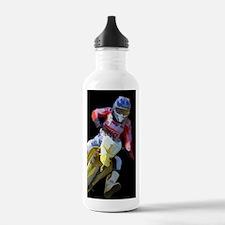 Motocross Driver on Bl Water Bottle