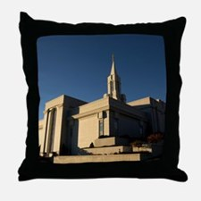 LDS Bountiful Utah Temple Throw Pillow