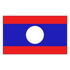 Laotian Flag Rectangle Decal