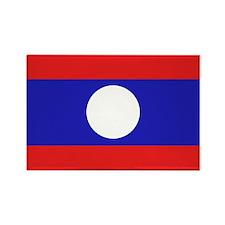 Laotian Flag Rectangle Magnet