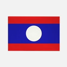 Laotian Flag Rectangle Magnet