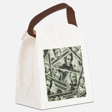 Money Canvas Lunch Bag