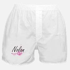 Nolan surname artistic design with Fl Boxer Shorts