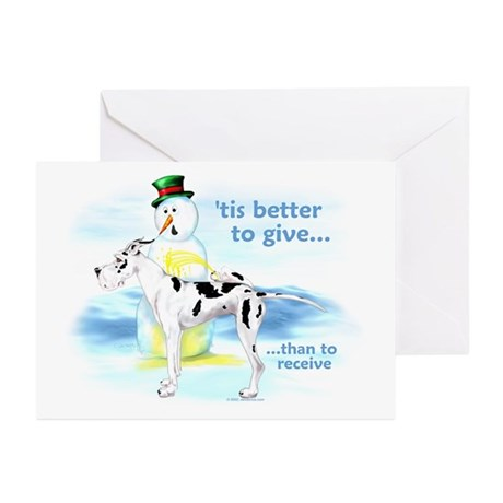 Great Dane Harle Giving Greeting Cards (Pk of 10)