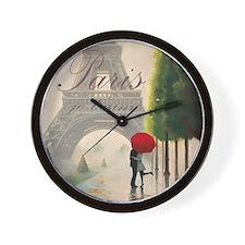 Je T'aime Paris Wall Clock