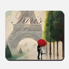 Je T'aime Paris Mousepad